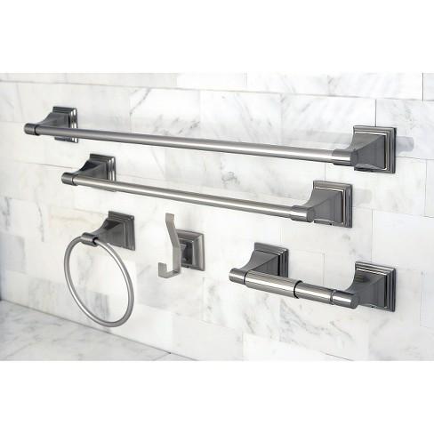 Satin Nickel 5 Piece Bathroom Accessory Set Kingston Brass Target