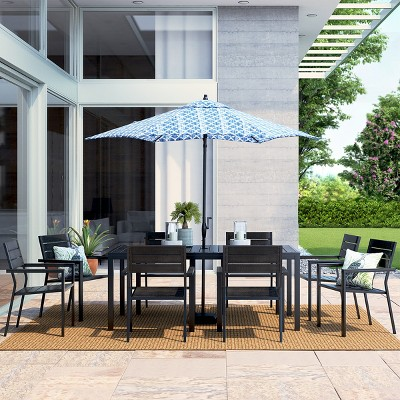 Bryant 9pc Rectangle Metal Patio Dining Set - Brown - Project 62™