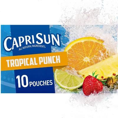 Capri Sun Tropical Punch - 10pk/6 fl oz Pouches