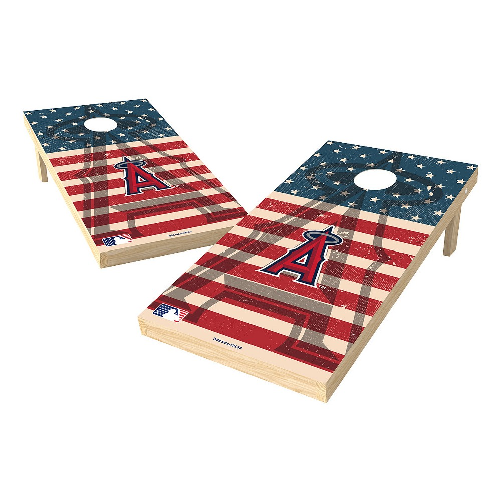 MLB Los Angeles Angels Wild Sports 2x4 Tailgate Toss Cornhole Shield - Stars and Stripes