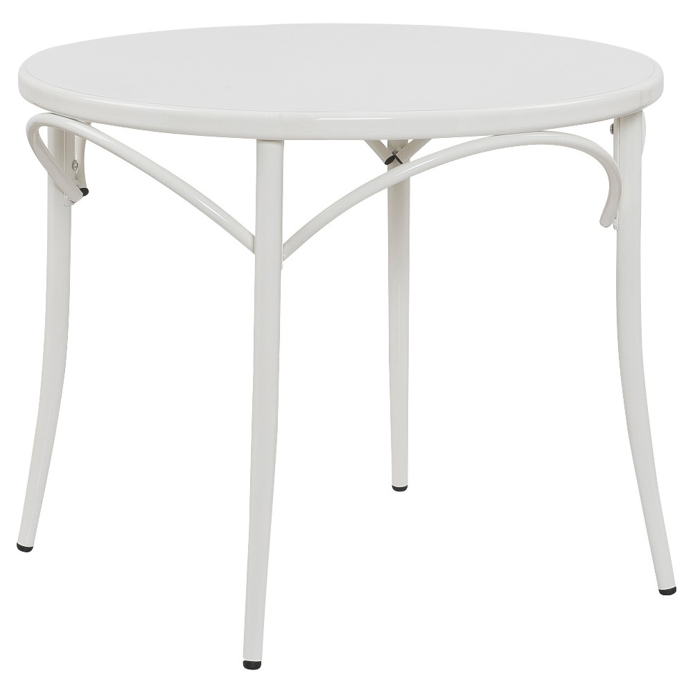 Image of Ellie Bistro Round Table - White - Reservation Seating