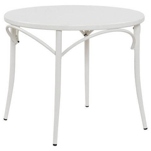 Ellie™ Bistro Round Table - White - Reservation Seating - image 1 of 2