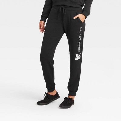 Women's Disney Mickey Mouse Jogger Pants - Jet Black