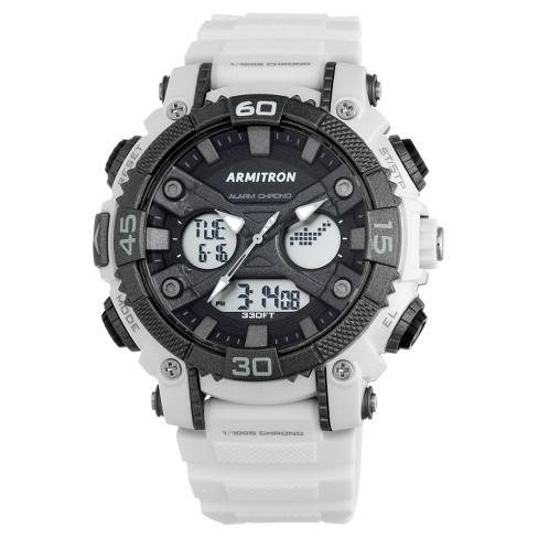 2fa4c8ace Men's Armitron® Sport Chronograph Strap Watch - White : Target