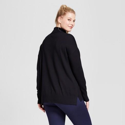 Women\'s Plus Size Turtleneck - A New Day™ Black 4X