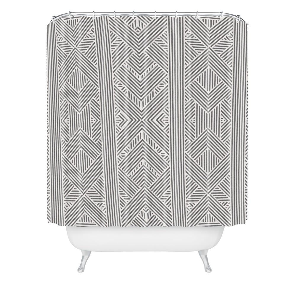 Image of Amai Shower Curtain Black - Deny Designs