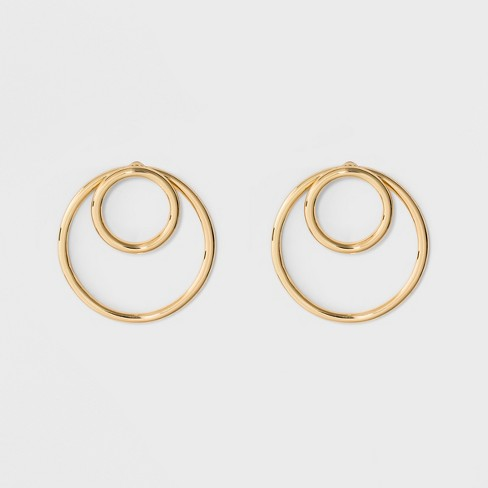 Sugarfix By Baublebar Modern Hoop Earrings Gold