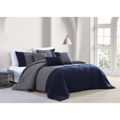 Tillman 6pc Enzyme Washed Colorblock Comforter Set - Geneva Home Fashion