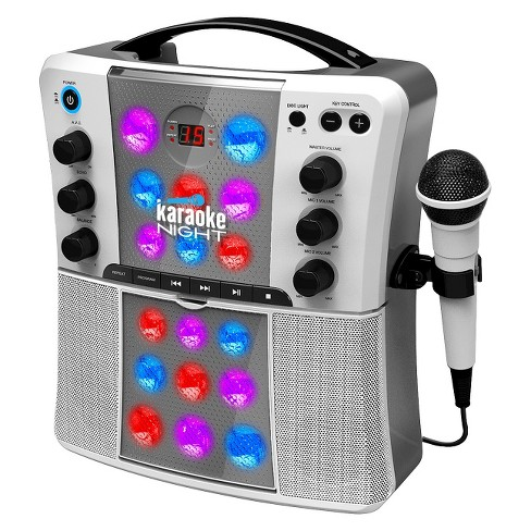 CD+G Karaoke Machine with LED Light Show- Gray (KN200) - image 1 of 4