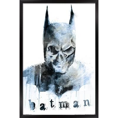 Trends International 24X36 DC Comics - Batman - Skull Framed Wall Poster Prints