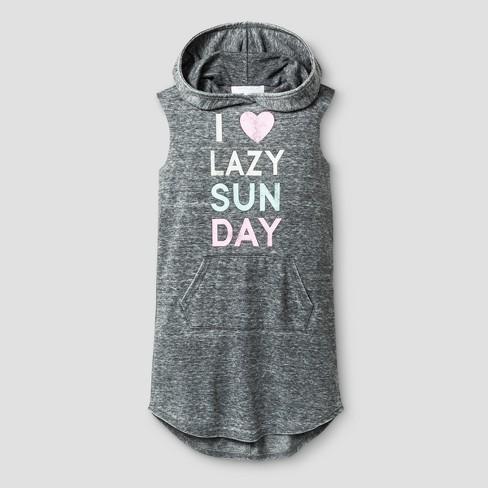 18157dd42d4 Grayson Social Girls  I Love Lazy Sunday Hooded...   Target