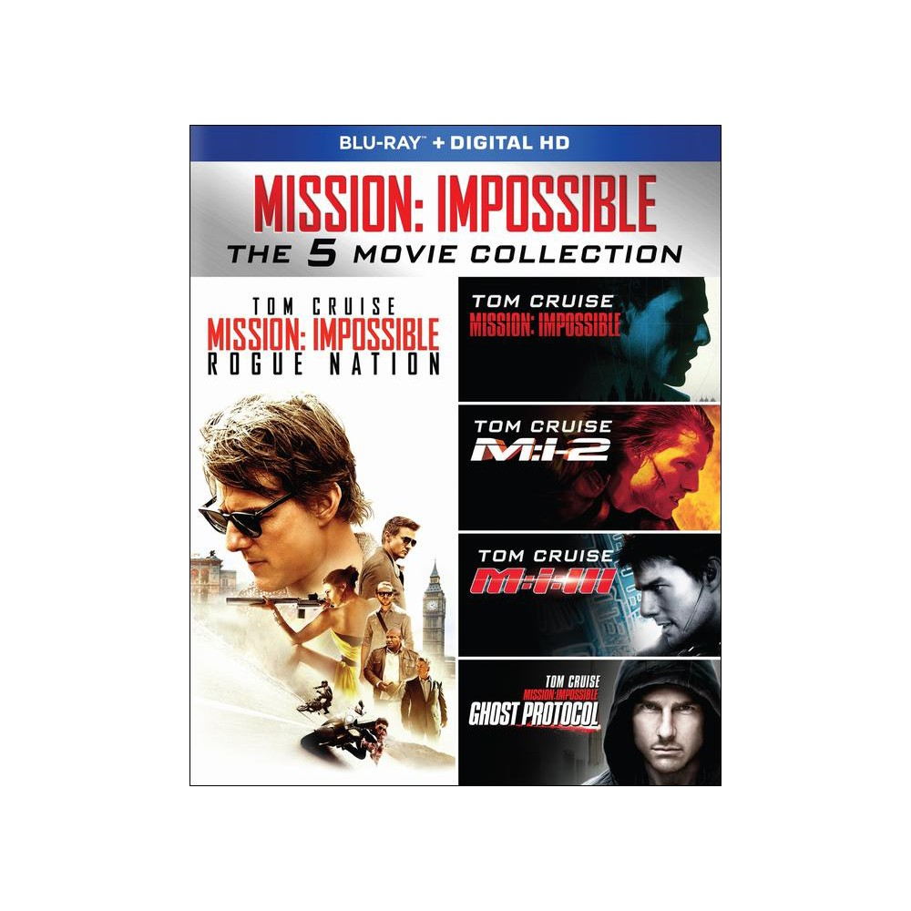 Mission Impossible Movie Collection Blu-ray 5 Discs