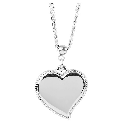 West Coast Jewelry Stainless Steel Heart Charm Necklace - image 1 of 3