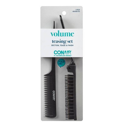 Conair Foldable Teasing Comb & Foldable Teasing Hair Brush - 2pk