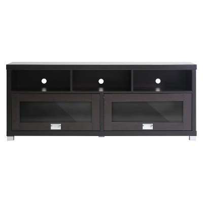 "Modern TV Stand Dark Brown 58"" - Wholesale Interiors"