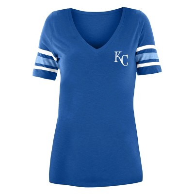 MLB Kansas City Royals Women's Pitch Count V-Neck T-Shirt