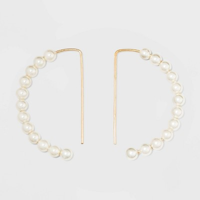 Pearl Drop Earrings - A New Day™ Gold