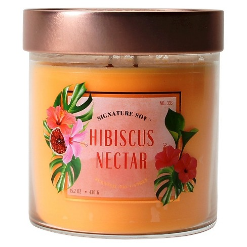 Jar Candle Hibiscus Nectar 15.2oz - Signature Soy® - image 1 of 1