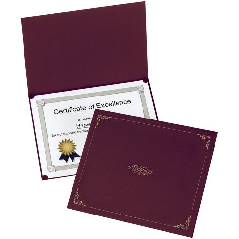 Oxford® Certificate Holder, Letter Size, Burgundy, pk of 5 - image 1 of 1