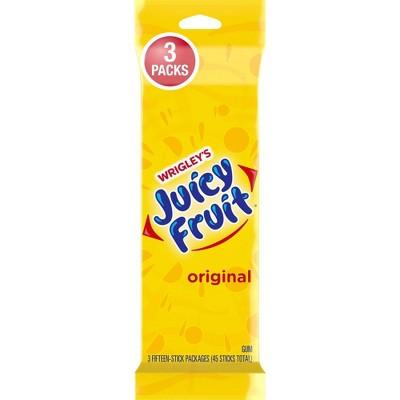 Juicy Fruit Gum - 15 sticks/3pk
