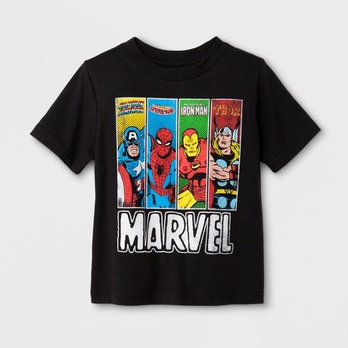 930219f4e07 Toddler Boys  Marvel 4 Amigos Short Sleeve T-Shirt - Black   Target