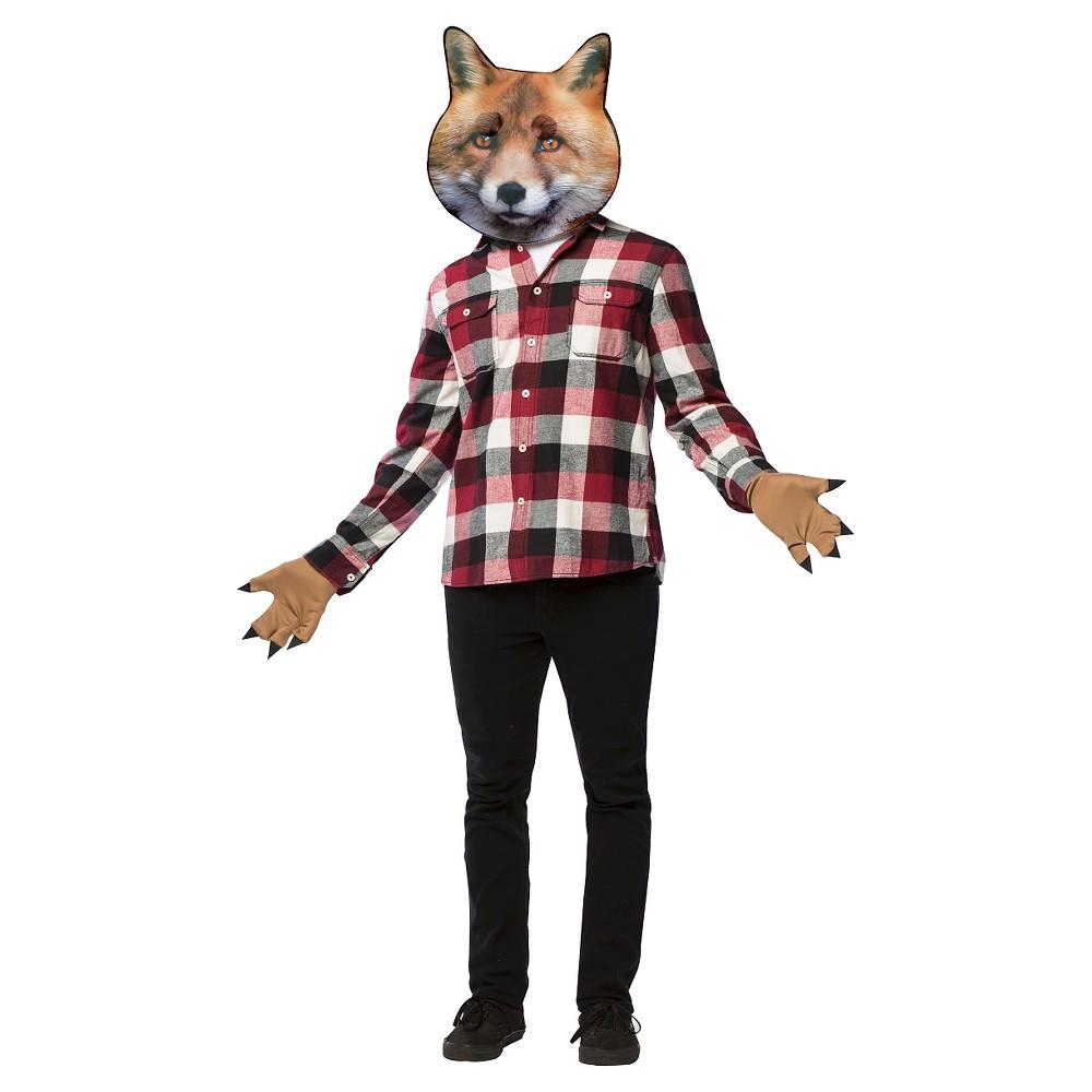 Adult Fox Mask Kit Costume One Size, Adult Unisex, Orange