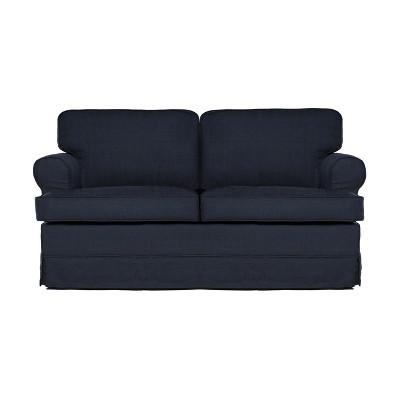 Everett Loveseat Midnight Blue   Sofas 2 Go