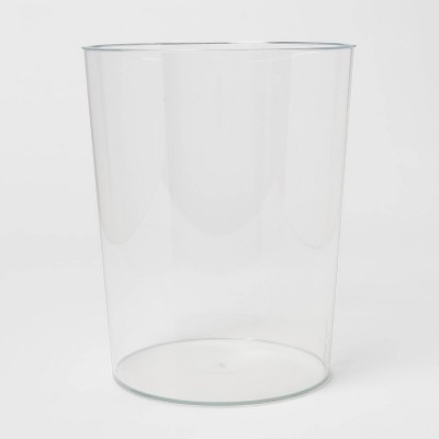 Solid Bathroom Wastebasket Clear - Room Essentials™