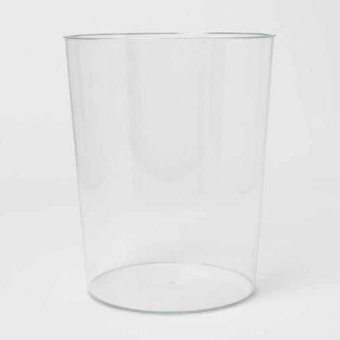 Solid Bathroom Wastebasket Clear - Room Essentials™ - image 1 of 4