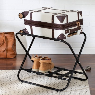 Honey-Can-Do 2 Tier Kd Luggage Rack Black