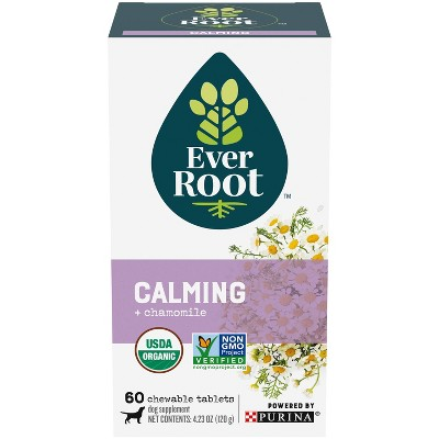Purina EverRoot Natural, Organic Calming Supplement Chewable Tablets for Dogs - 60ct