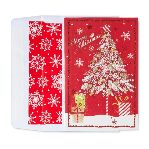 American Greetings 40ct Merry Christmas in Wreath Holiday Boxed Cards - image 1 of 1