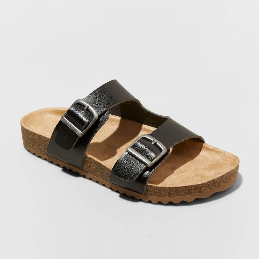 Kids 39 Drew Slip On Footbed Sandals Cat 38 Jack 8482 Black 2