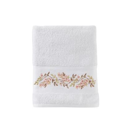 Misty Floral Bath Towel White - Saturday Knight Ltd.