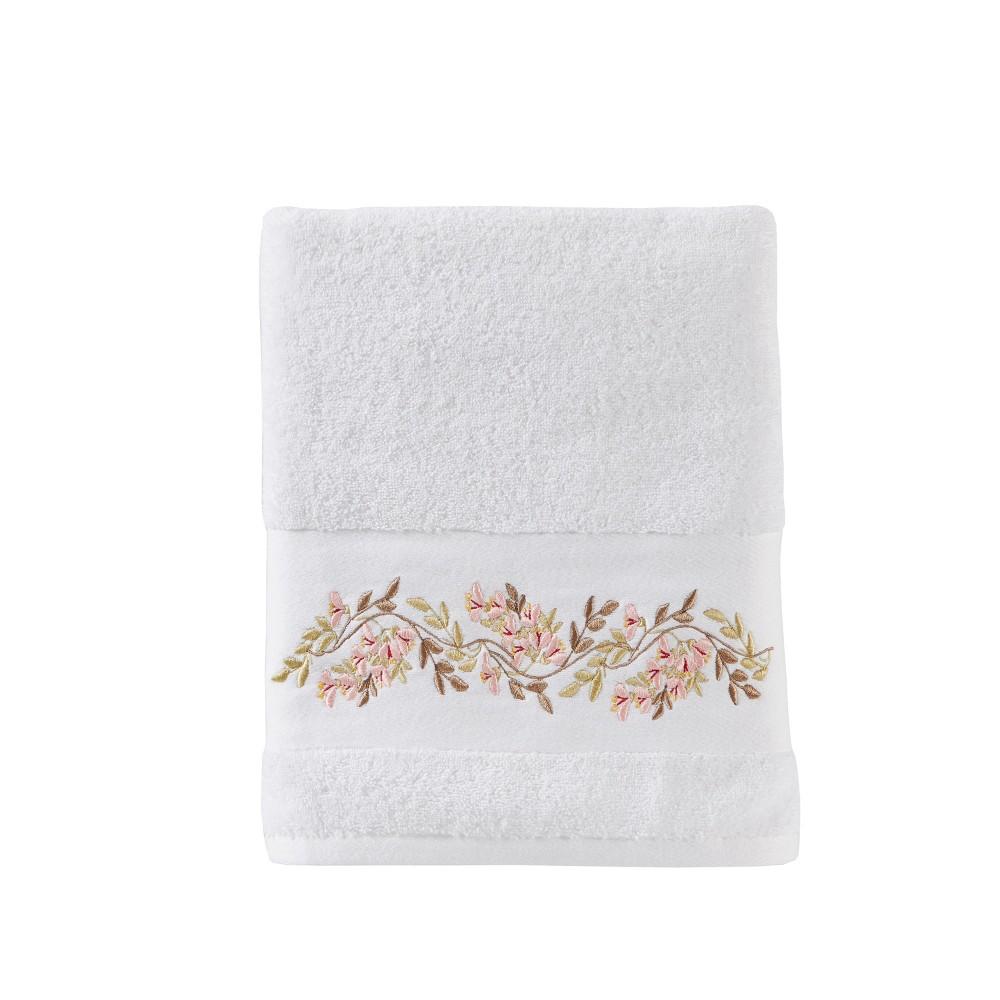 Misty Floral Bath Towel White Saturday Knight Ltd