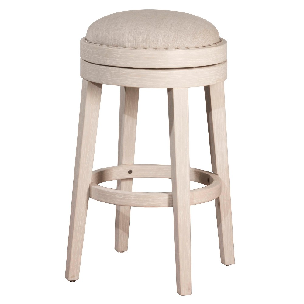 30 Carlito Backless Swivel Bar Stool White - Hillsdale Furniture