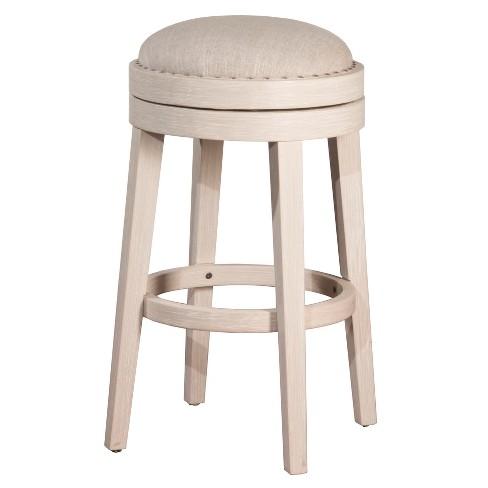 30 Carlito Backless Swivel Bar Stool White Hilale Furniture