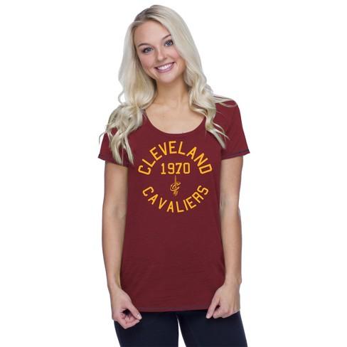 59625154 NBA Cleveland Cavaliers Women's Phys Ed Scoop Neck Slub T-Shirt : Target