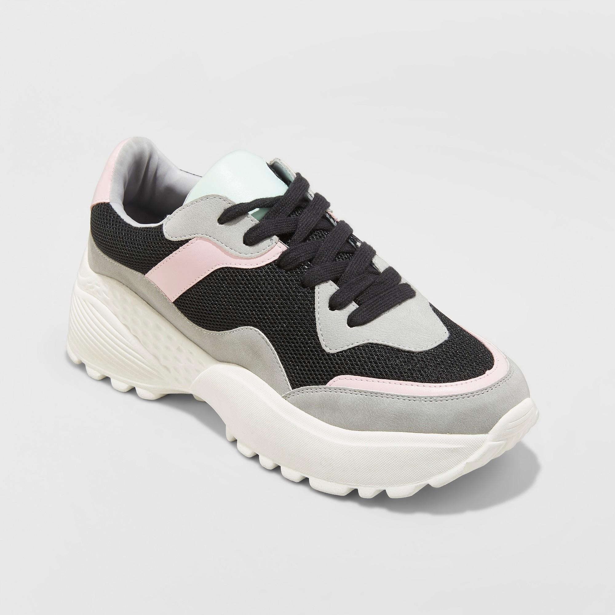 Women's Freshee Wide Width Sneakers - Wild Fable Black 8.5W, Size: 8.5 Wide