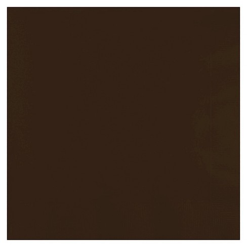 50ct Chocolate Brown Disposable Napkins - image 1 of 1