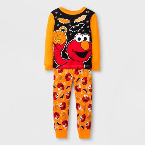 88b8a8d9ba30 Toddler Boys  Sesame Street 2pc Cotton Pajama Set - Orange 4T   Target