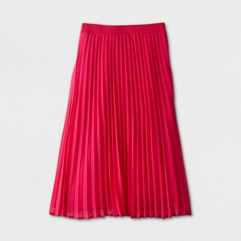 Women's High-Rise Pleated A-Line Midi Skirt - A New Day™ - image 1 of 2