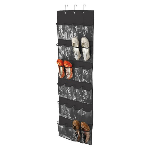Honey-Can-Do Over The Door Clear Shoe Organizer and Storage Rack - Black - image 1 of 1