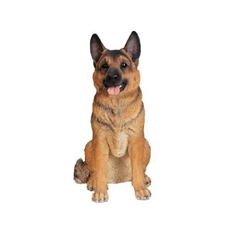 "21"" Polyresin Large Sitting German Shepherd Statue Golden - Hi-Line Gift - image 1 of 1"