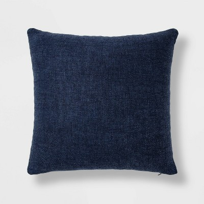Linen Square Throw Pillow Navy - Threshold™
