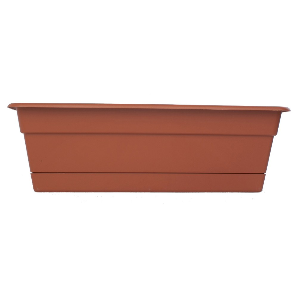 "Image of ""24"""" Dura Cotta Rectangular Window Box - Terracotta - Bloem"""