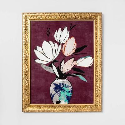 Flowers Framed Canvas   Opalhouse by Opalhouse