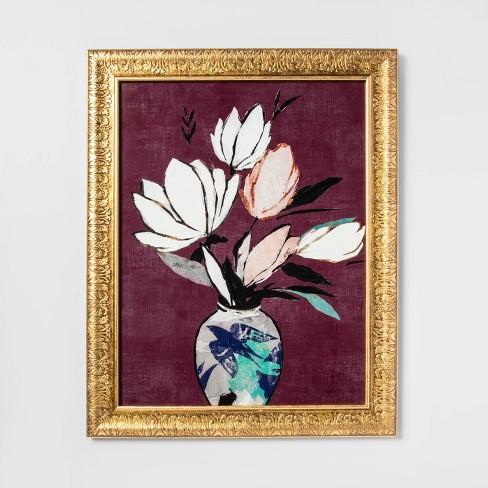 Flowers Framed Canvas - Opalhouse™ - image 1 of 3