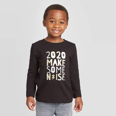 Toddler Boys' Long Sleeve New Years 2020 Graphic T-Shirt - Cat & Jack™ Black 18M