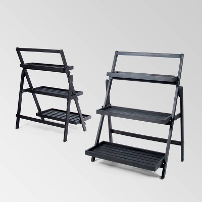 2pk Meridien Acacia Wood Plant Stand - Christopher Knight Home